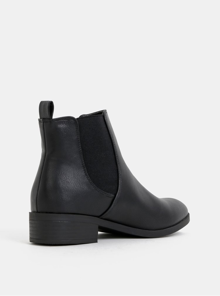 Čierne chelsea topánky Dorothy Perkins