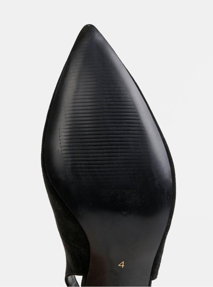 Čierne lodičky v semišovej úprave Dorothy Perkins