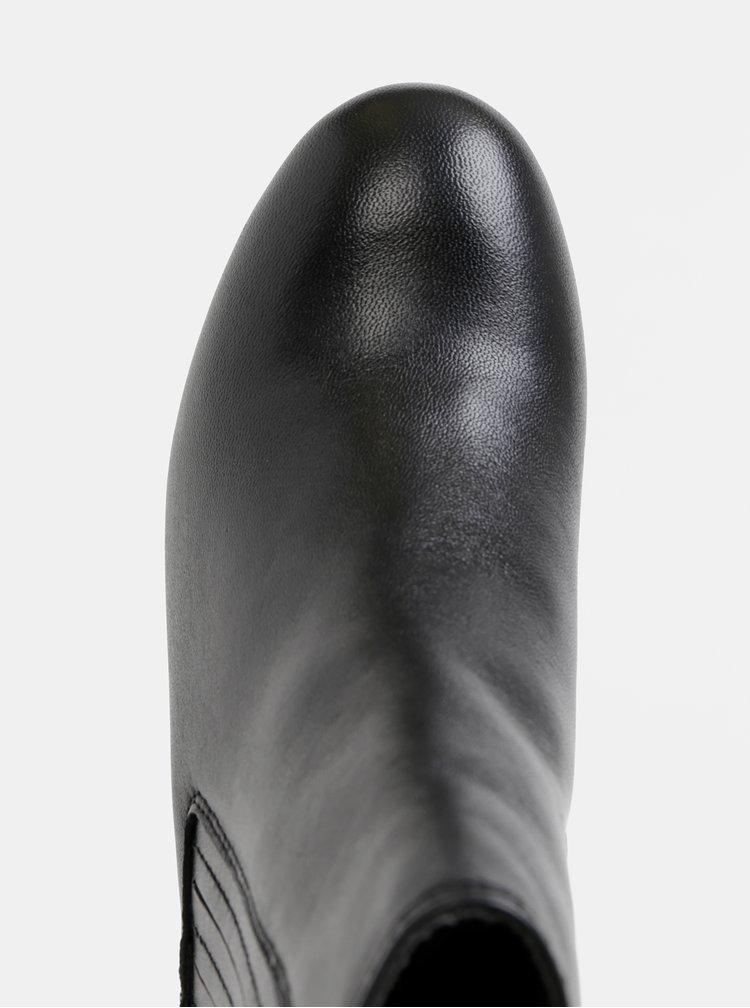 Čierne kožené chelsea topánky Dorothy Perkins