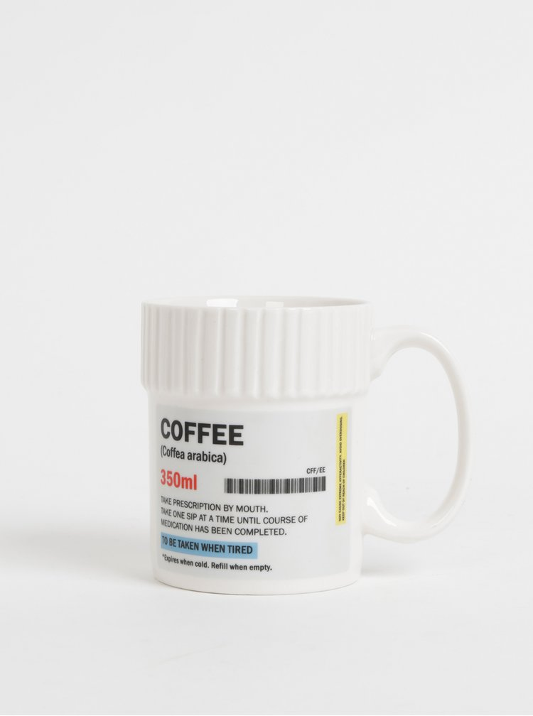 Cana alba Gift Republic Coffee cu imprimeu