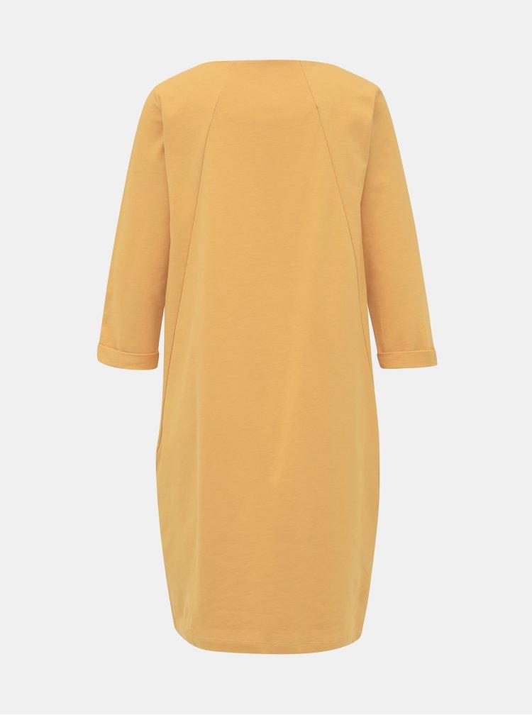 Žluté mikinové basic šaty ZOOT Hana