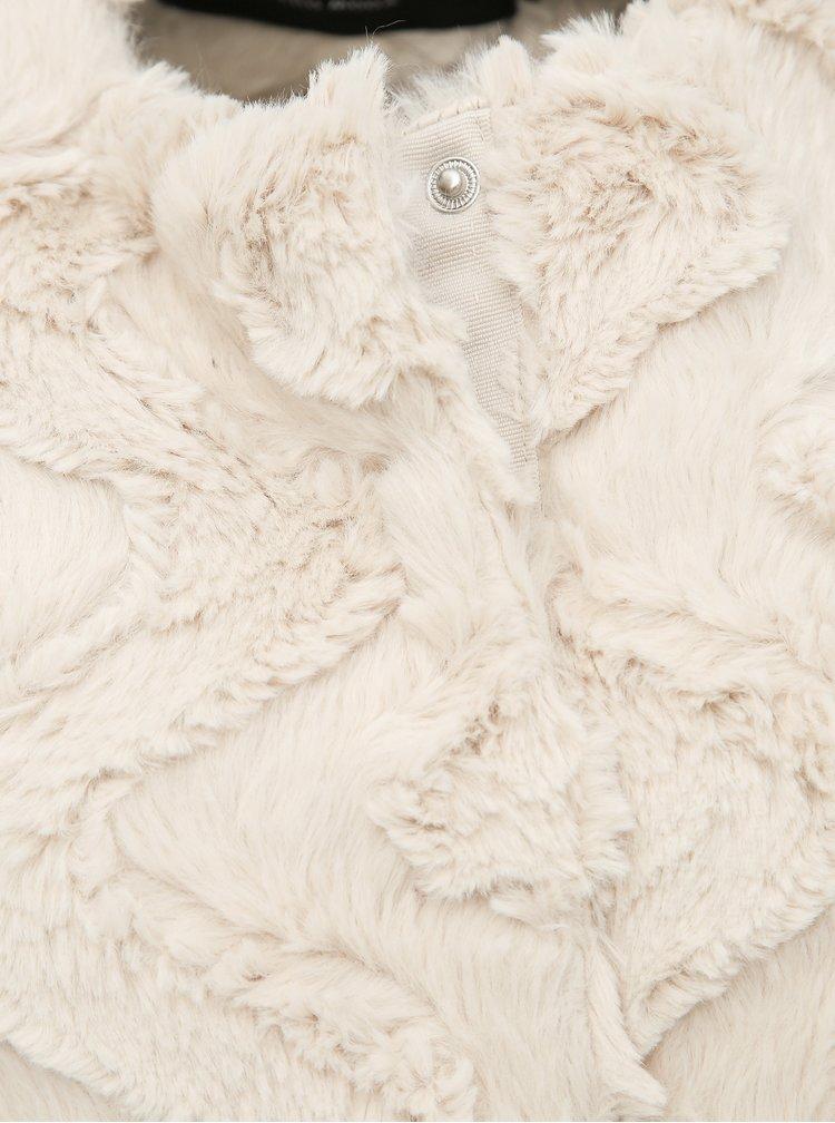 Krémová vesta z umělé kožešiny VERO MODA Curl
