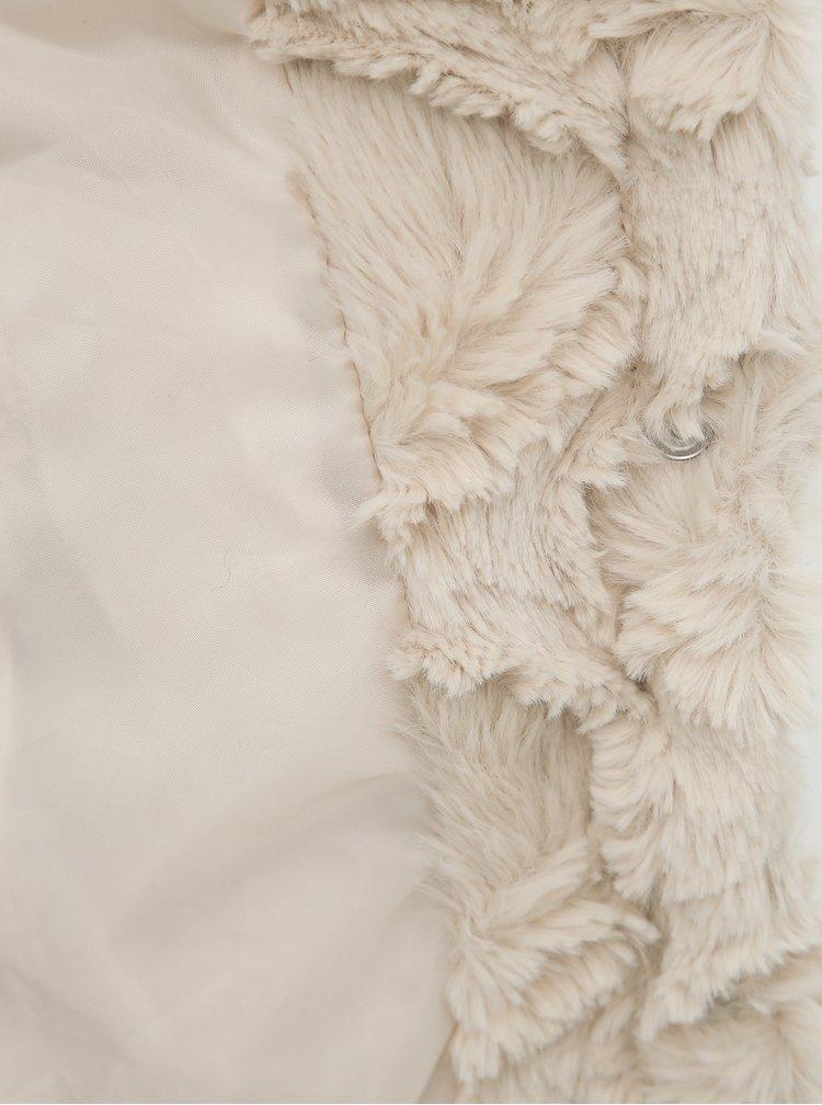 Krémová vesta z umelej kožušiny VERO MODA Curl