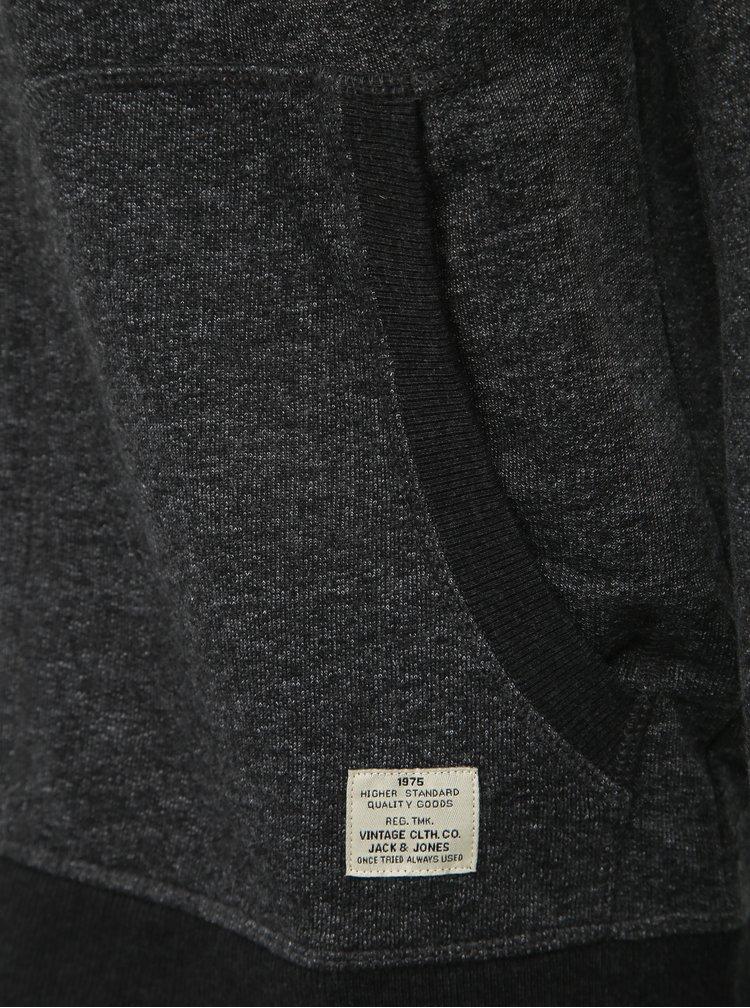 Tmavě šedá mikina Jack & Jones Recycle