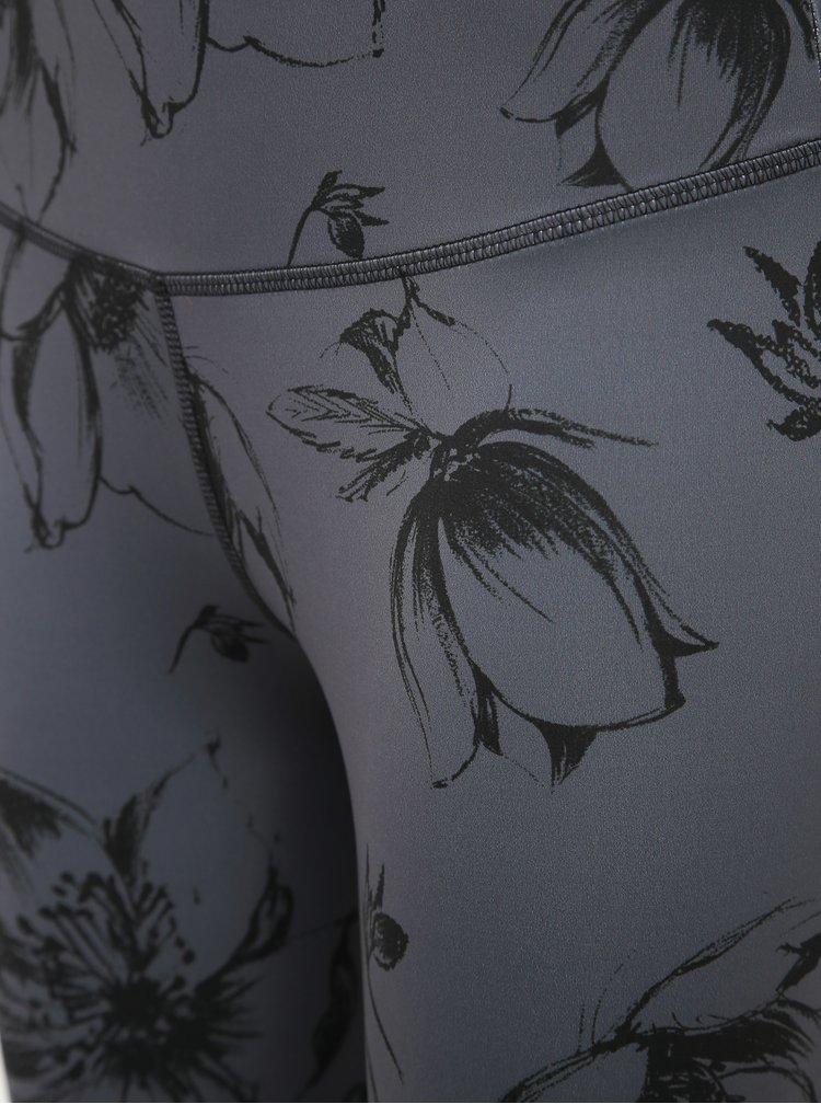 Šedé květované legíny Maloja