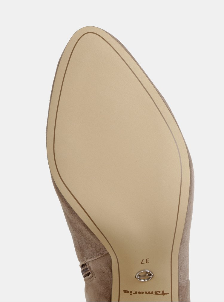Šedé semišové členkové topánky Tamaris
