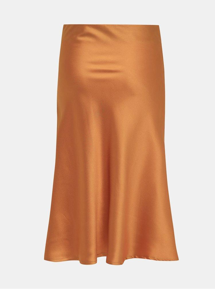 Hořčicová saténová sukně Haily´s Serena