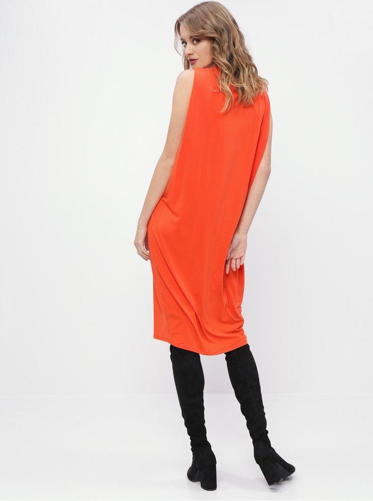 Oranžové basic šaty Selected Femme Asha