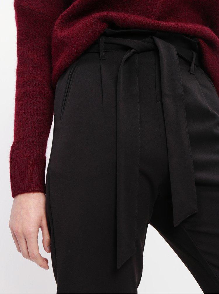 Čierne skrátené nohavice TALLY WEiJL
