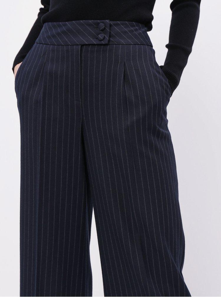 Tmavě modré pruhované culottes Dorothy Perkins