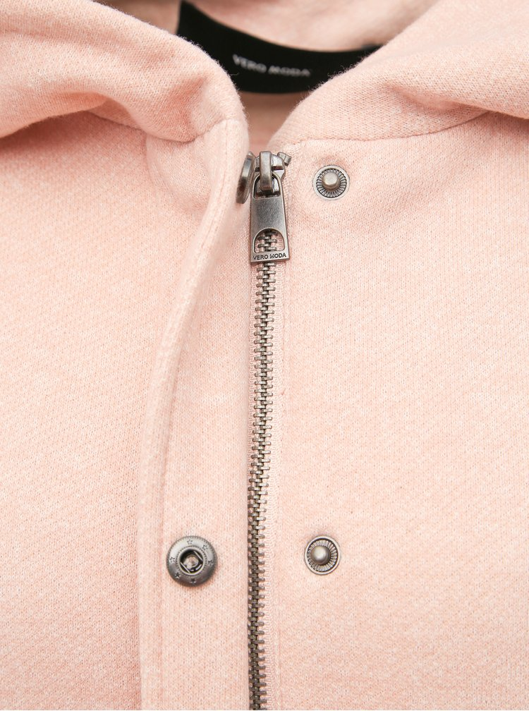 Světle růžový kabát VERO MODA