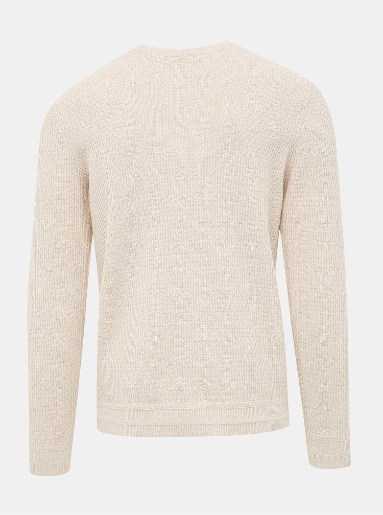 Krémový sveter Selected Homme Oliver