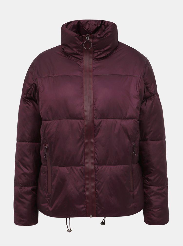 Vínová dámská prošívaná zimní bunda Haily´s Ina