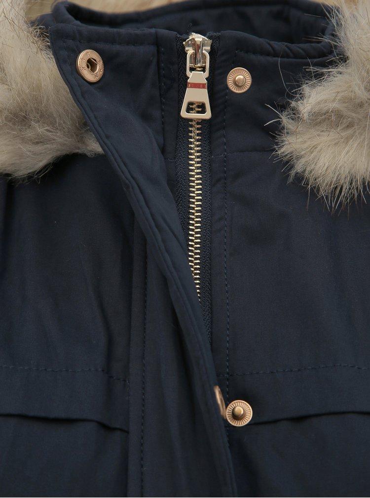 Tmavě modrá dámská krátká zimní parka Haily´s Penelope