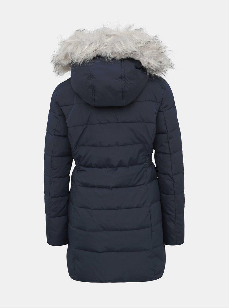 Tmavě modrý dámský prošívaný zimní kabát Haily´s Anette