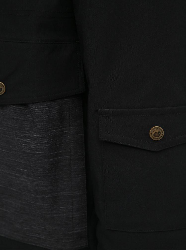 Černá pánská voděodolná zimní bunda Meatfly