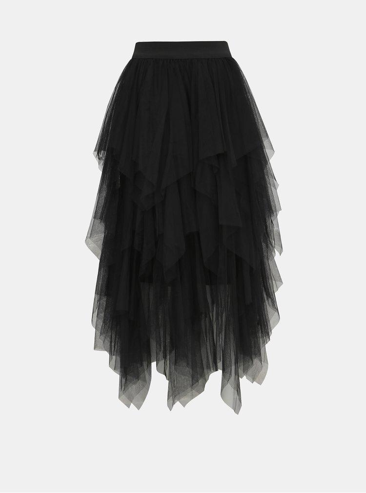 Černá tylová maxi sukně Haily´s Tessa