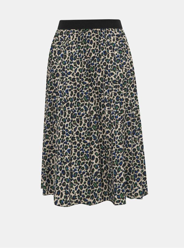 Béžová sukně s leopardím vzorem Haily´s Amelie