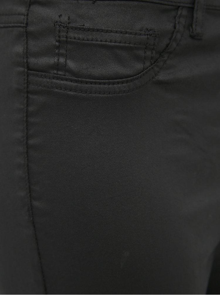 Čierne dámske koženkové skinny fit nohavice Haily´s Define