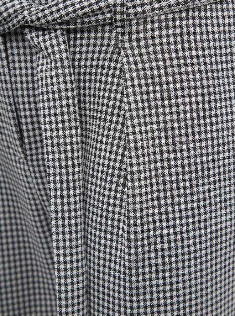 Šedé dámske kockované skrátené nohavice Haily´s Geo