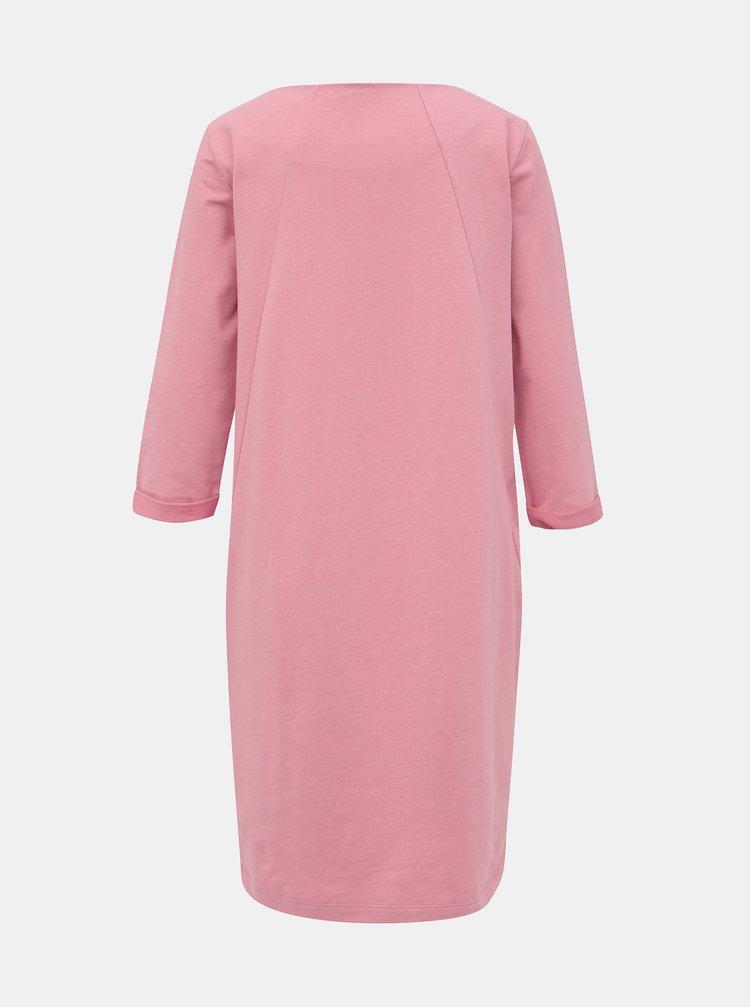 Růžové mikinové basic šaty ZOOT Hana