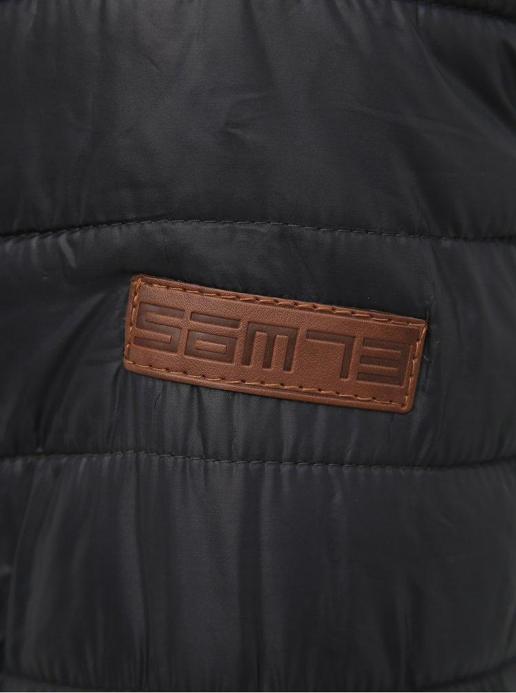 Šedá pánská voděodpudivá prošívaná bunda SAM 73