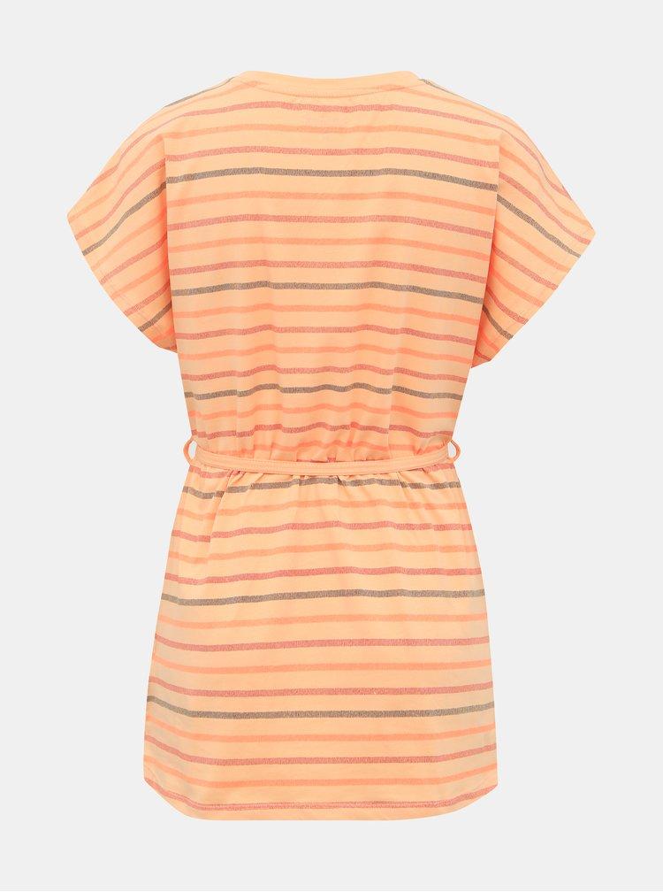 Oranžové dámské pruhované tričko SAM 73