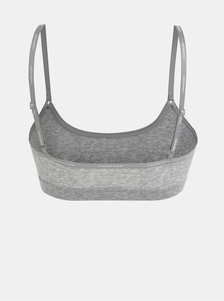 Světle šedá podprsenka Calvin Klein Underwear