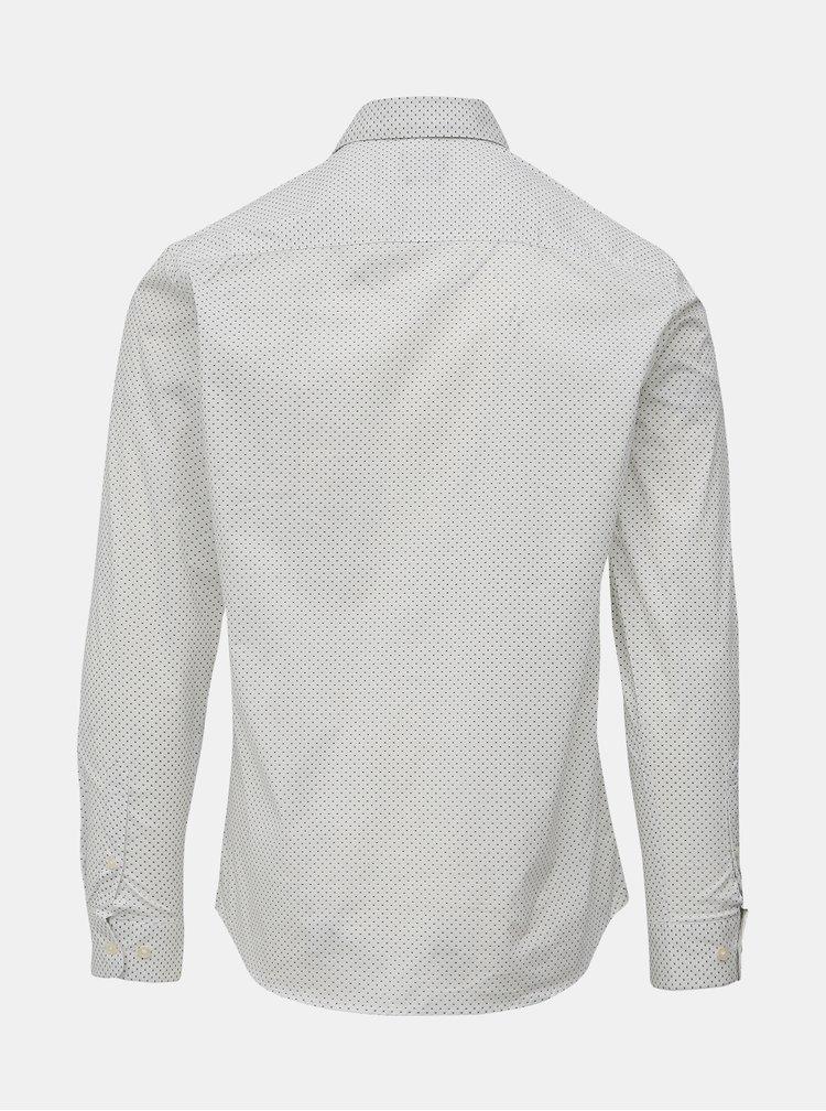 Bílá vzorovaná slim fit košile Selected Homme Freddie