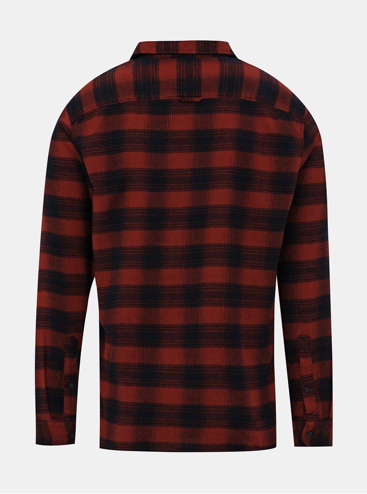 Modro-červená kostkovaná slim fit košile Selected Homme Seamus