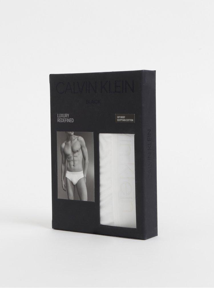 Bílé slipy z egyptské bavlny Calvin Klein Underwear