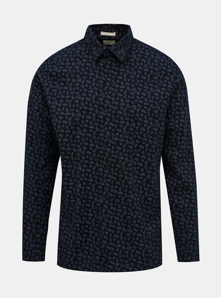 Tmavě modrá květovaná košile Selected Homme Seamus
