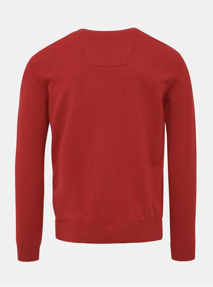 Červený pánský basic svetr Tom Tailor