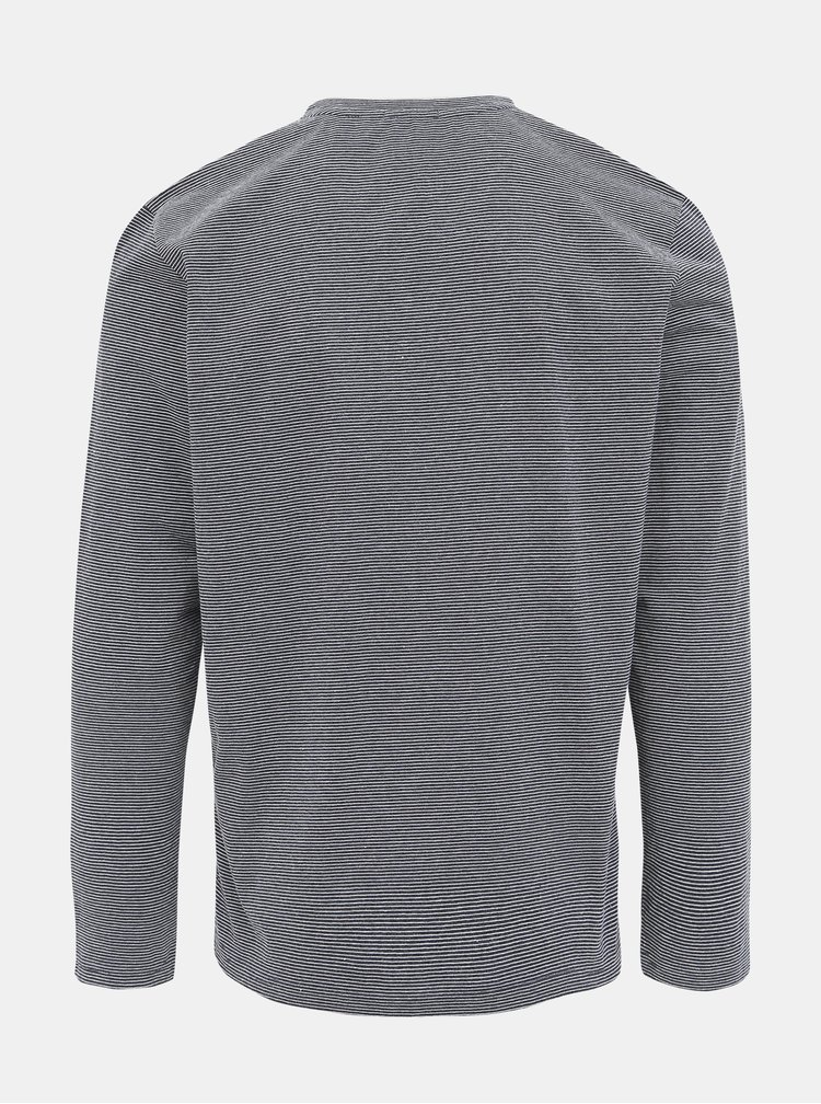 Tmavomodré pánske pruhované tričko Tom Tailor