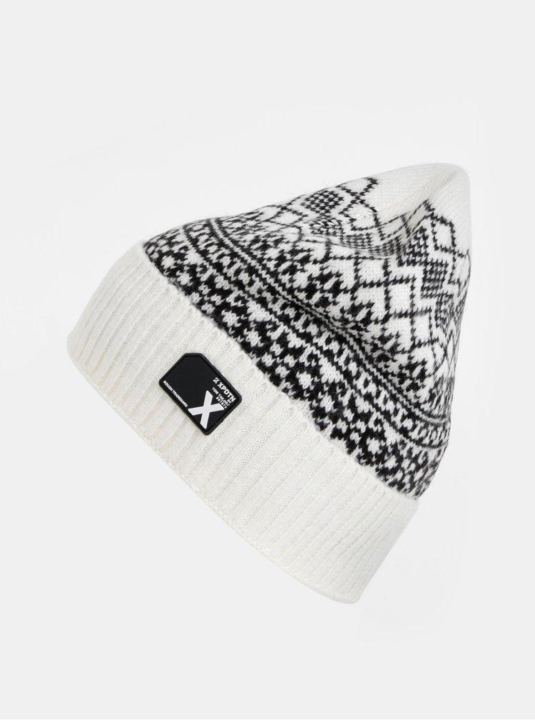 Bílá vzorovaná čepice Tom Tailor Denim