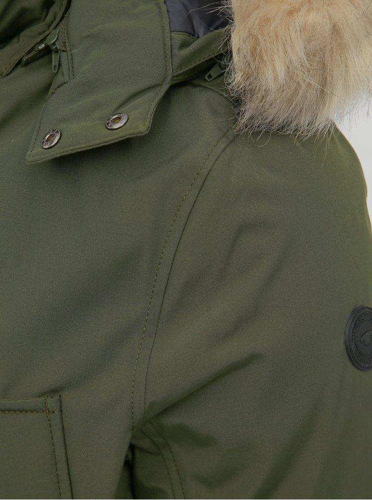 Tmavě zelená pánská zimní bunda Tom Tailor