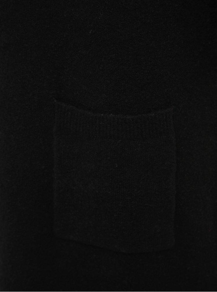 Černé svetrové šaty Tom Tailor
