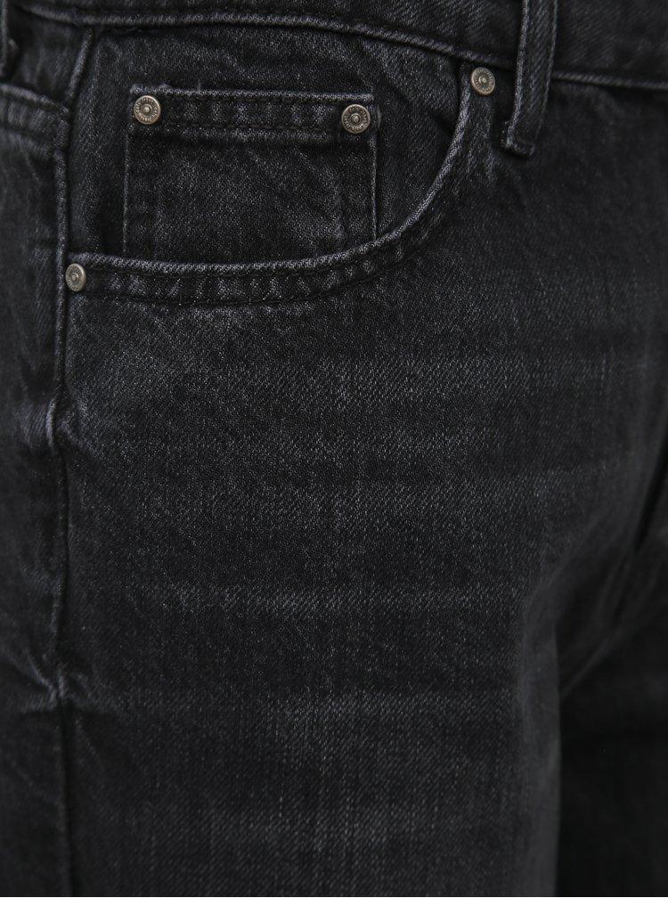 Černé zkrácené mom fit džíny ONLY Kelis