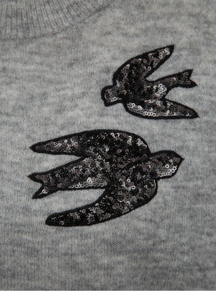 Svetlošedý sveter Jacqueline de Yong Kayden