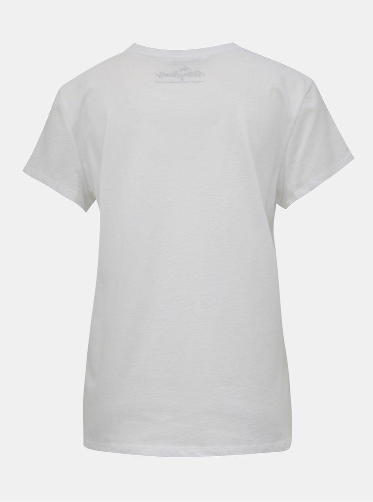 Bílé tričko ONLY Rolling Stones