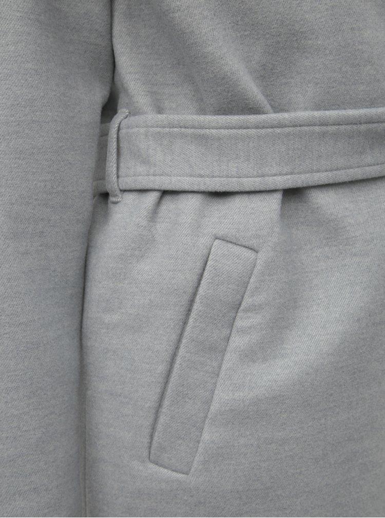 Světle šedý kabát VERO MODA Calasa