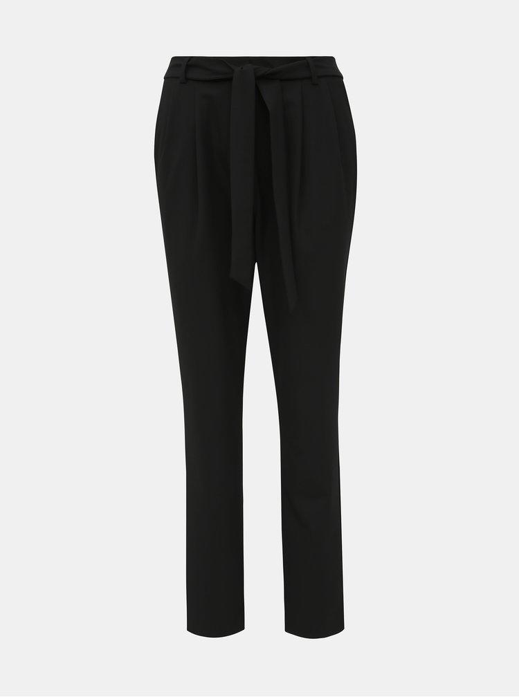 Pantaloni chino pentru femei Selected Femme - negru