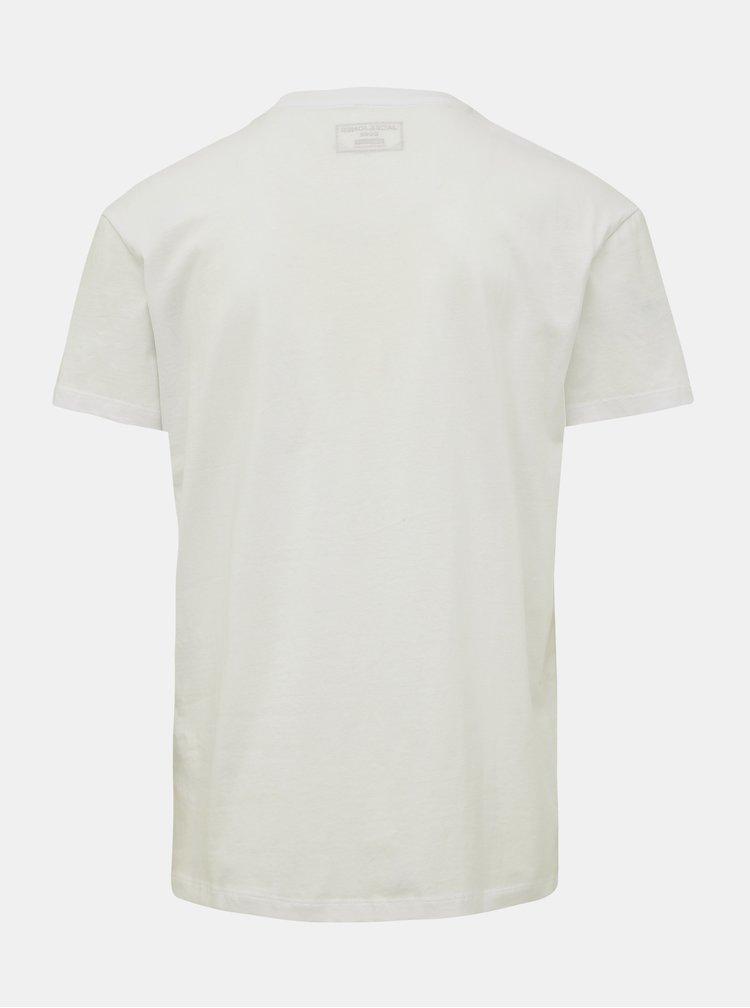 Bílé tričko Jack & Jones Embroidery