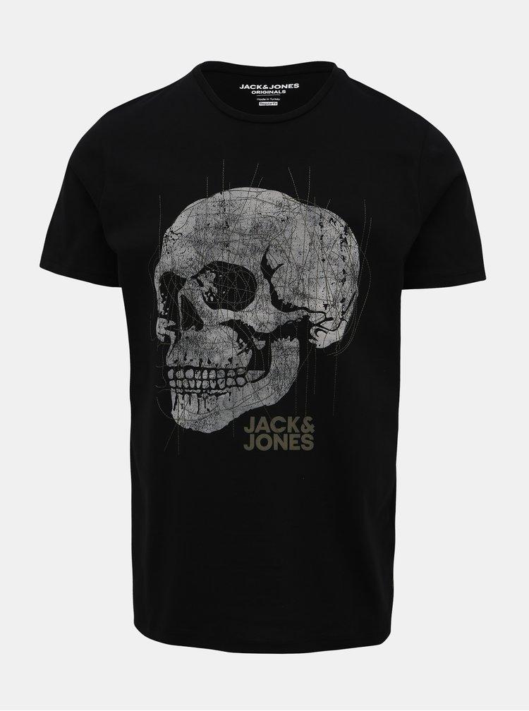 Černé tričko Jack & Jones Embroidery