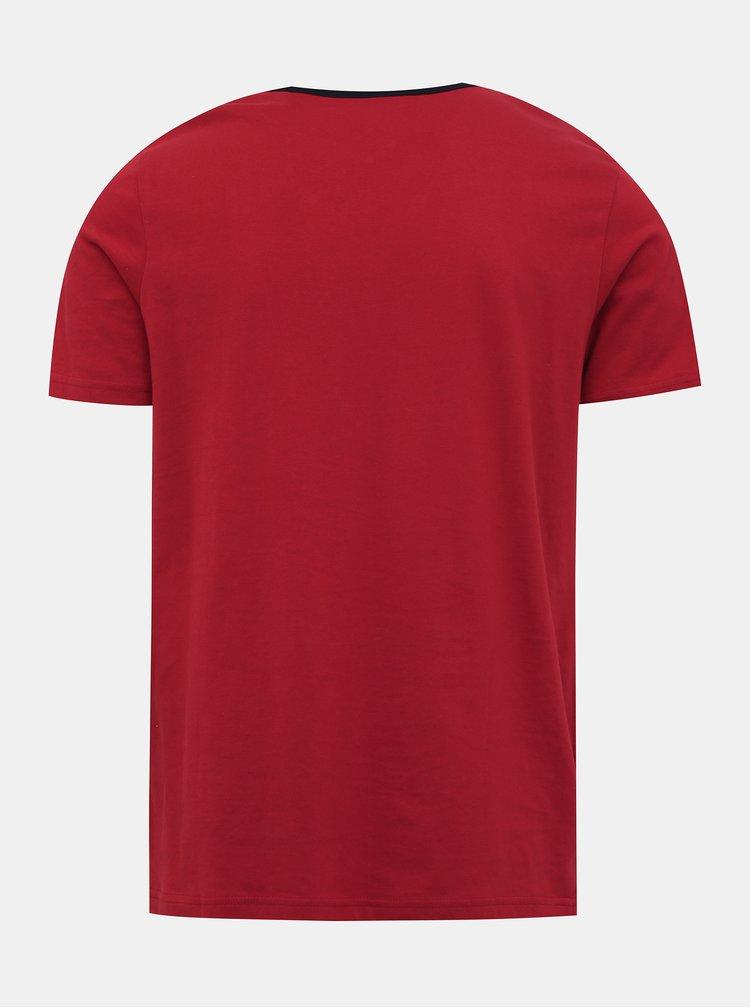 Červené tričko Jack & Jones Island