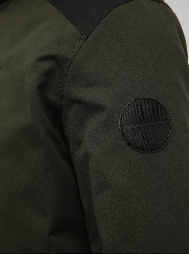 Tmavě zelená zimní voděodpudivá bunda Jack & Jones Profit