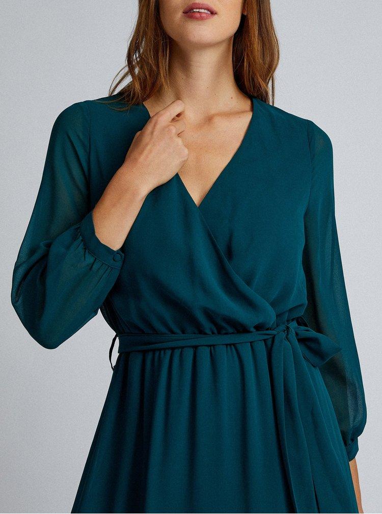 Petrolejové maxi šaty Dorothy Perkins