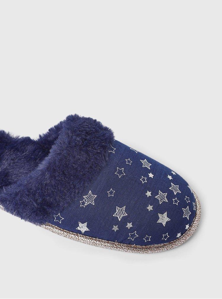 Tmavě modré vzorované pantofle Dorothy Perkins