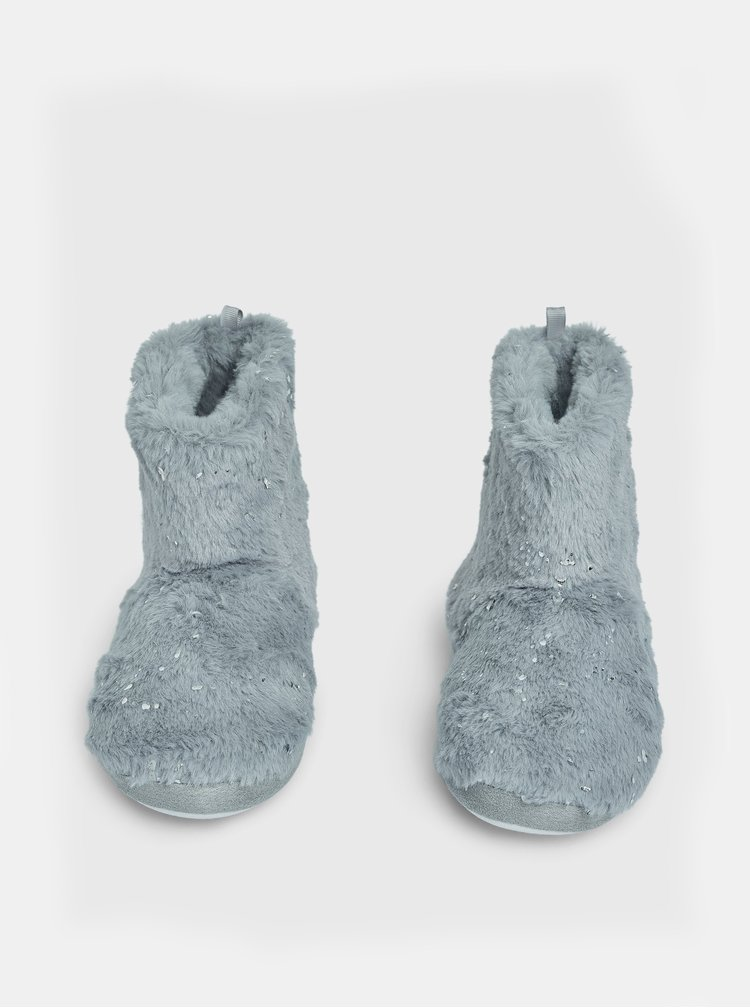 Šedé papuče Dorothy Perkins