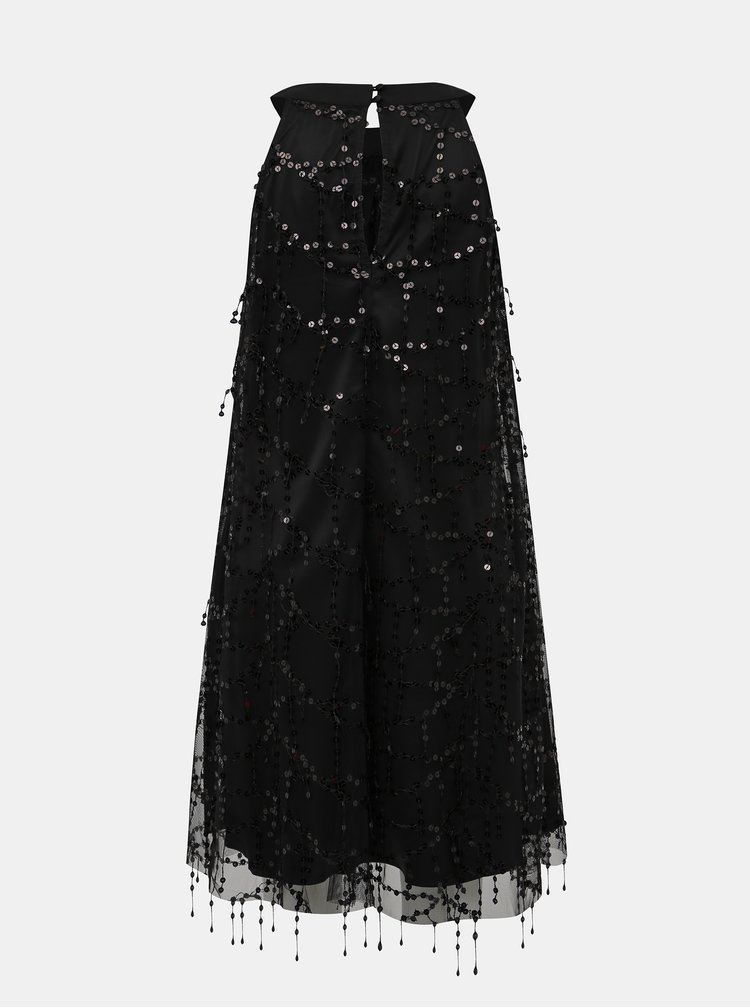 Čierne šaty s flitrami Dorothy Perkins